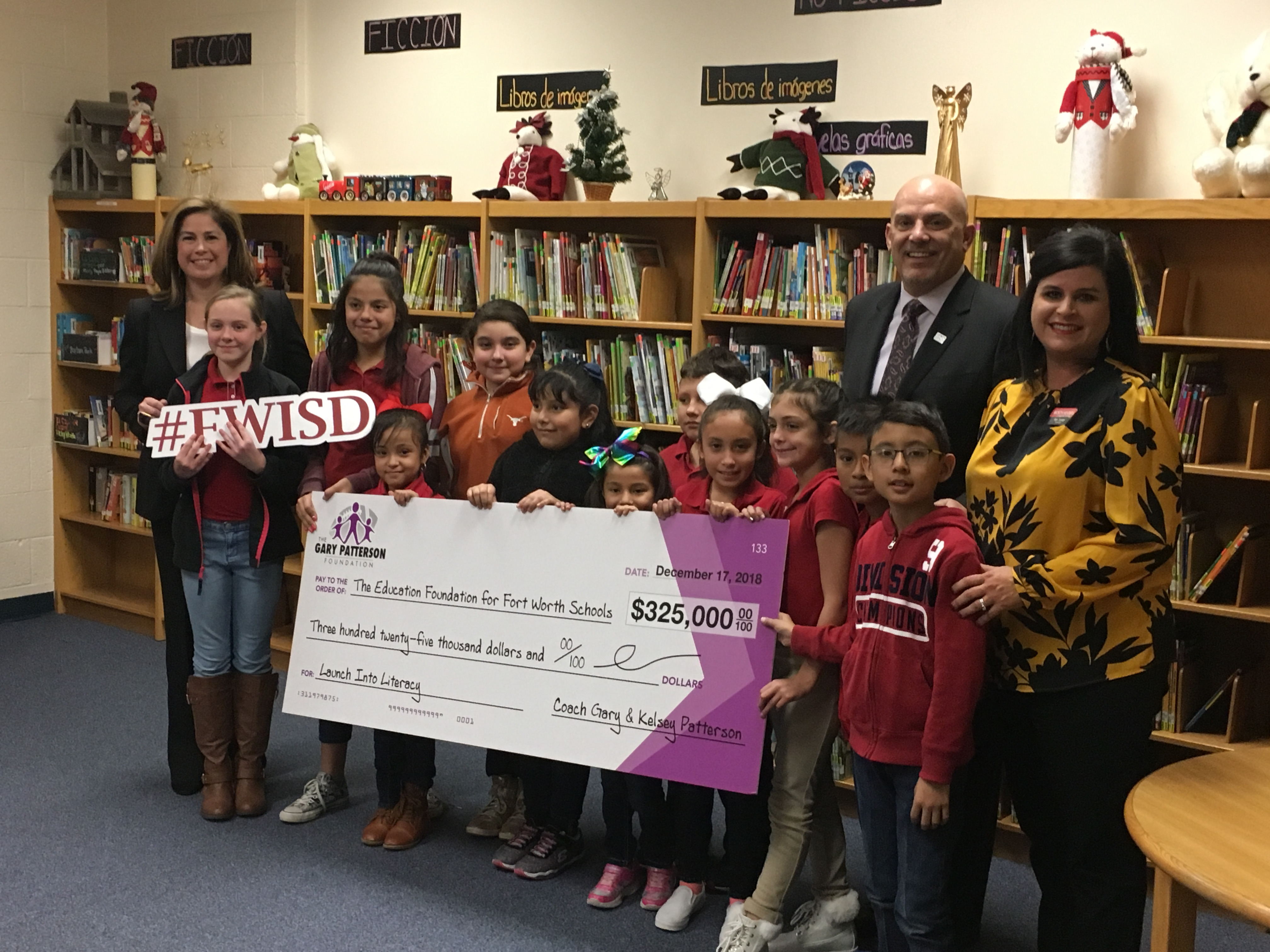 Gary Patterson Foundation awards $325,000 in grants to Fort Worth elementary schools