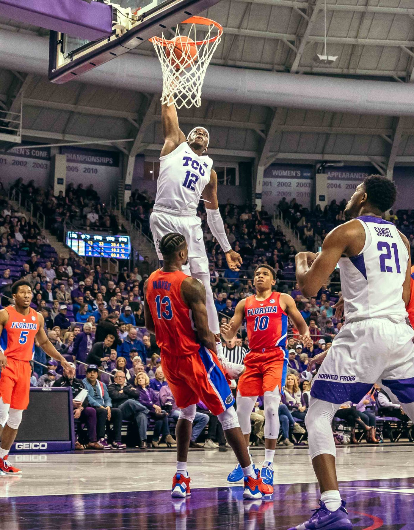 Men's Basketball earns 'ugly' victory over Florida in Big 12/SEC Challenge