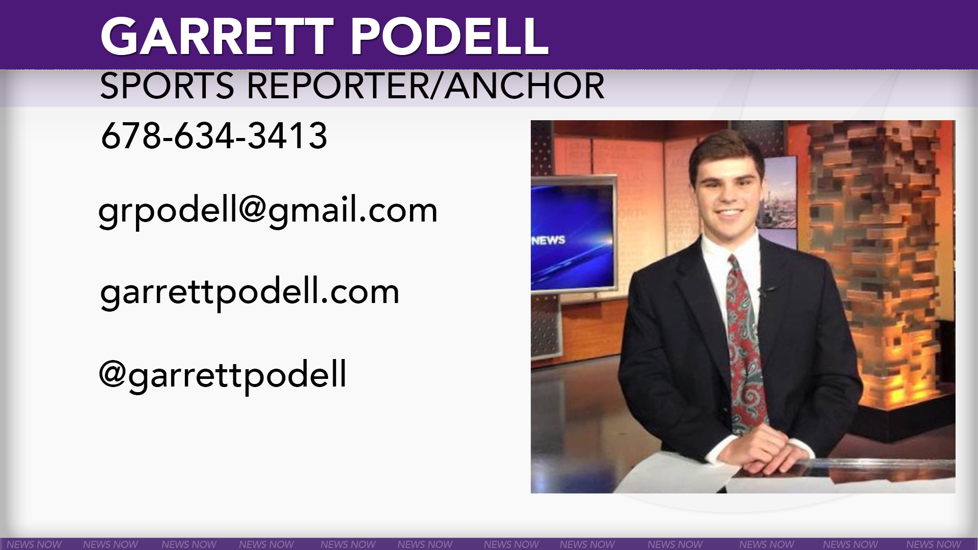 Garrett Podell Sports Broadcasting Reel